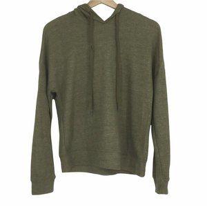 Everleigh Green Lightweight Casual Hoodie Sweatshirt Size XS